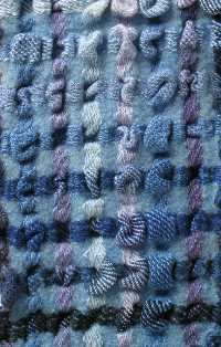 Bubbles scarf in blues