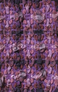 Double Bubbles scarf in Purple